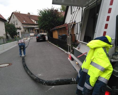 Material-Förderschlauch bis zu einer Länge von 100m