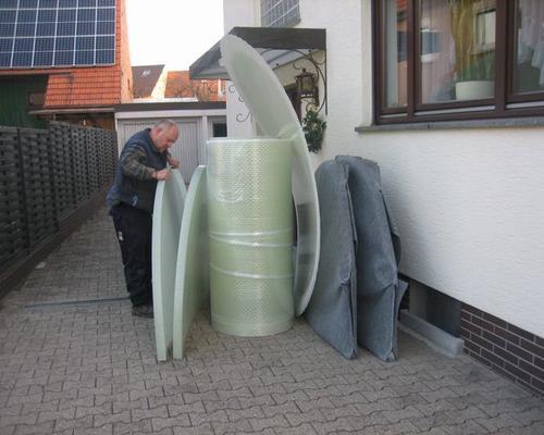 Kompakte Bauteile eines Kellertanks