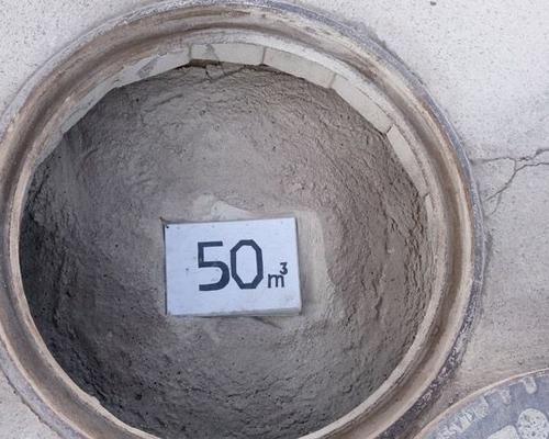 Mit Steinmehl befüllter 50m³ Schacht