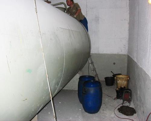Reinigung eines Kellertanks